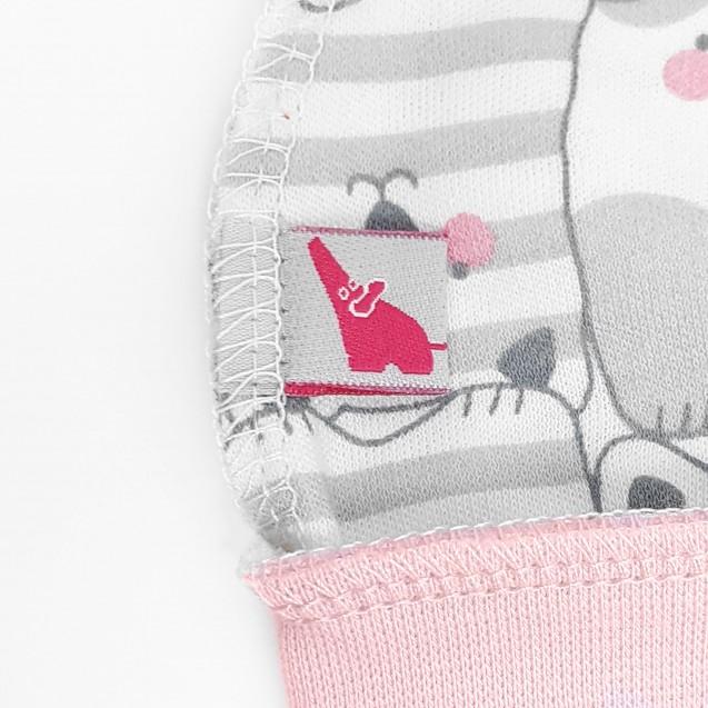 Шапочка на манжете для новорожденных Cat