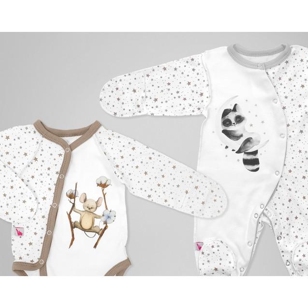 Большой комплект одежды для новорожденного Moon and Cotton