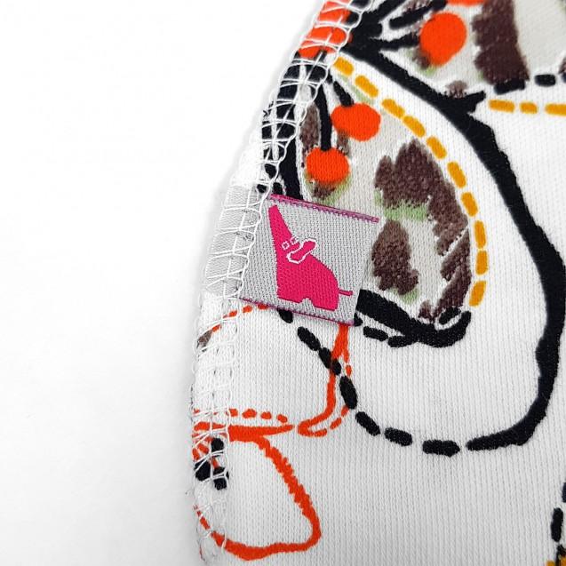 Базовая шапочка в роддом с наружным швом Flower для девочки