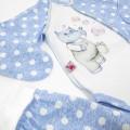 Набір для новонародженого з малюнком бегемотик Toto 5в1