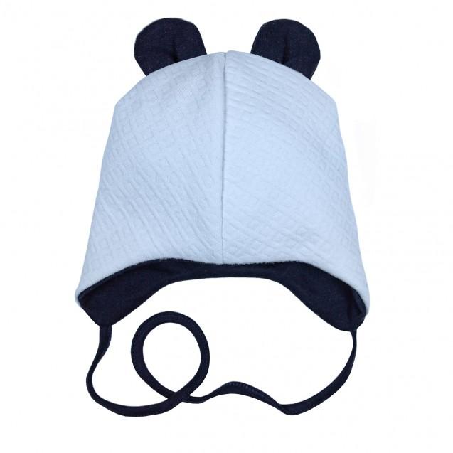 Демісезонна тепла шапочка блакитного кольору Sky