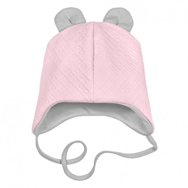 Тепла шапочка на весну та осінь для дівчинки до року Love