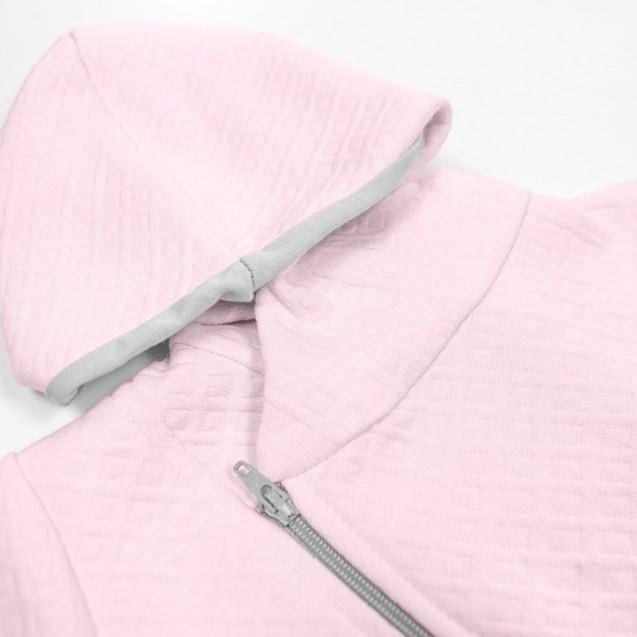 Теплый комбинезон с капюшоном для девочки Love