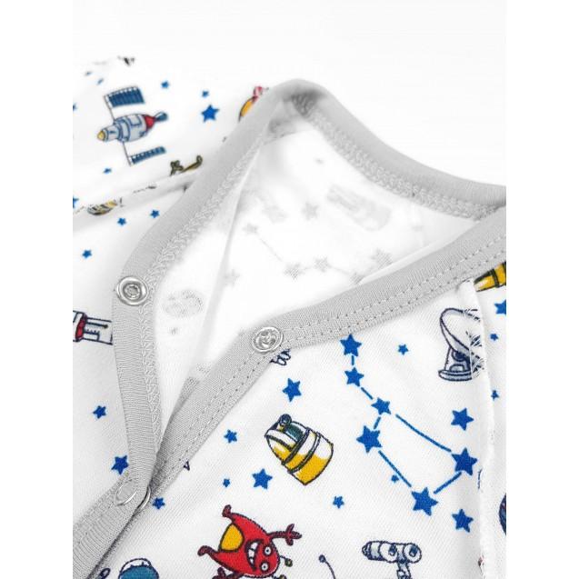 Человечек для новорожденного с наружными швами Space