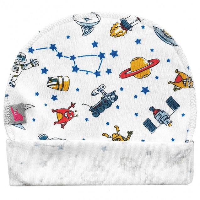 Шапочка для новонародженого із зовнішнім швом Space