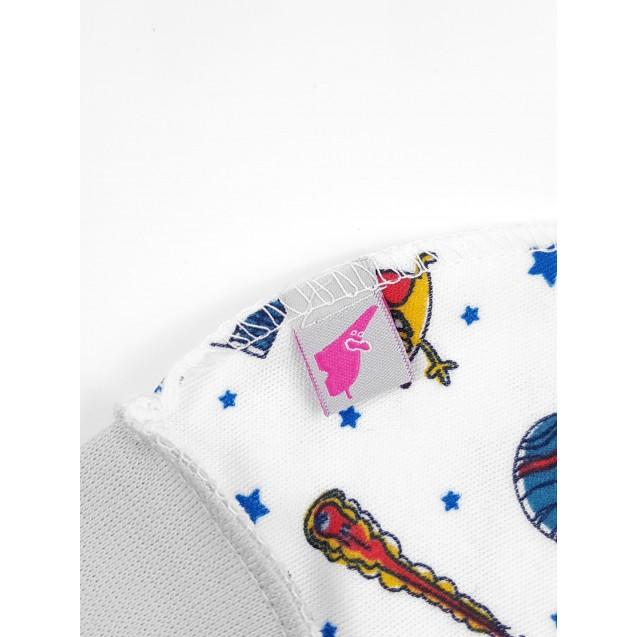 Шапочка на манжете для новорожденного Space