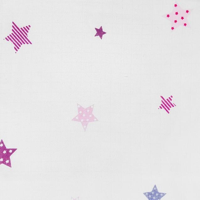 Великі муслінові пелюшки для новонароджених 3шт в наборі Stars