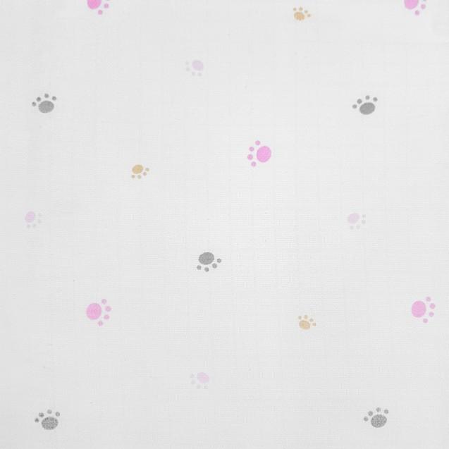 Большие муслиновые пеленки для девочки 3шт в наборе Pink