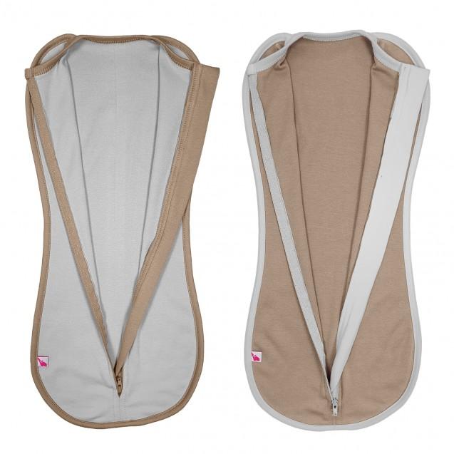 Набор пеленок коконов для новорожденных на молнии Choco и Style