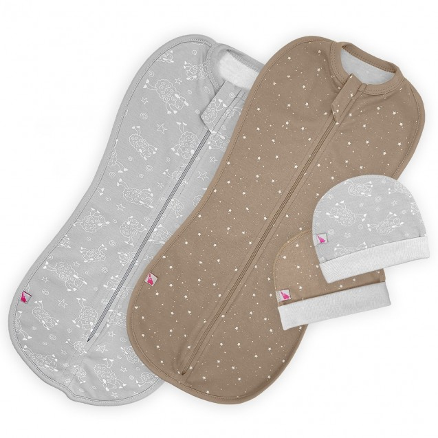 Комплект європелюшок на блискавці для новонароджених Mocco та Sweet dream