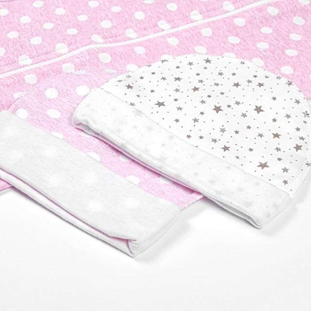 Набір пелюшок на блискавці для новонародженої Moon та Pink