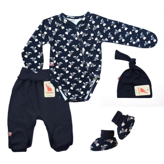 Комплект для новорожденного Navy-blue