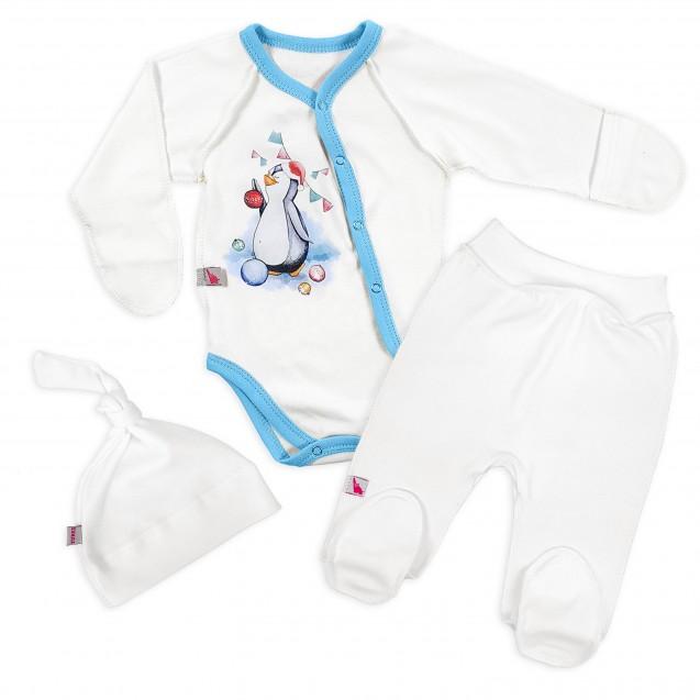 Новогодний комплект для ребенка Пингвиша 3в1