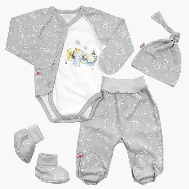 Набір для новонародженого з авторським малюнком 4 в 1 Sweet dream