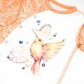 Чоловічок на виписку для дівчинки Nectar з авторським малюнком колібрі