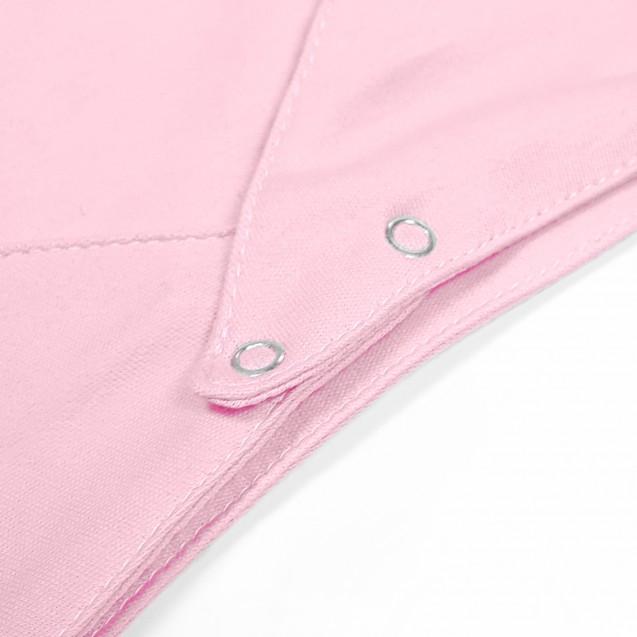 Розовый однотонный слюнявчик для девочки Rose