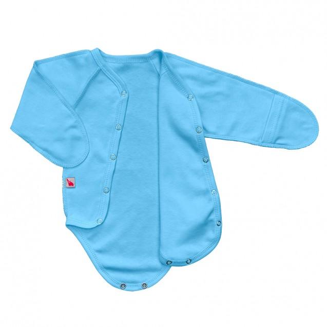 Блакитний боді для хлопчика із зовнішніми швами Frosty