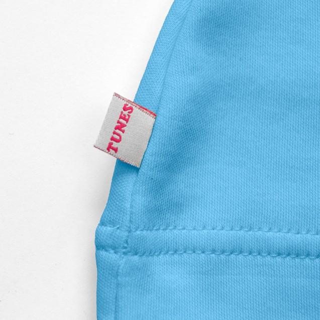 Шапочка с узелком однотонная голубая Frosty