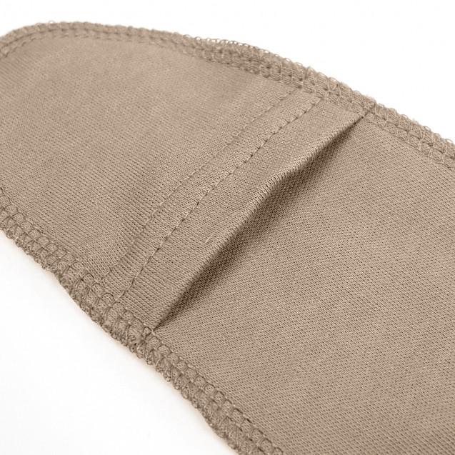 Кофейный боди с наружными швами для грудничка Choco