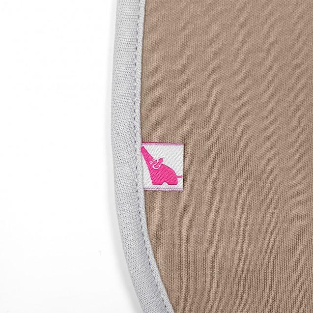 Однотонная кофейная пеленка на молнии с серым кантом Choco и Style