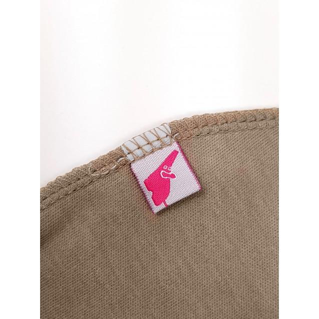 Шапочка с наружным швом кофейного цвета для новорожденного Choco