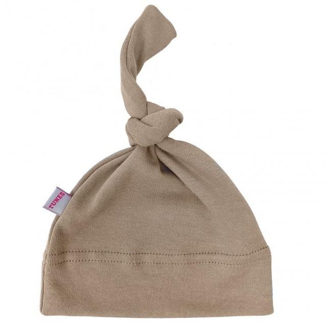 Однотонна шапочка з вузликом Choco