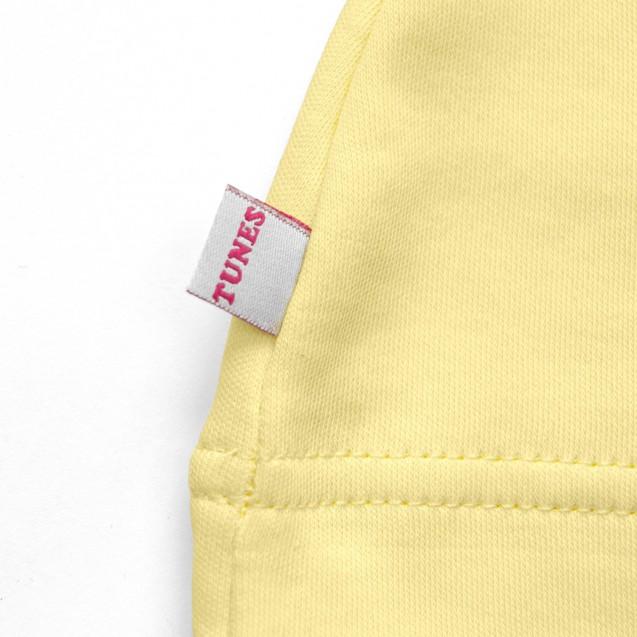 Трикотажна шапочка з вузликом жовтого кольору Lemon