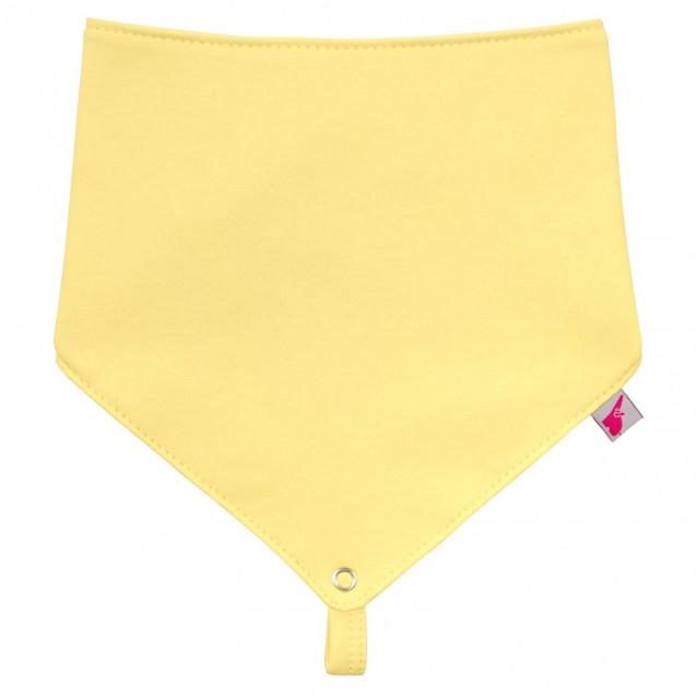 Желтый однотонный слюнявчик Lemon