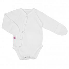 Білий бодік із зовнішніми швами для новонародженого Milk