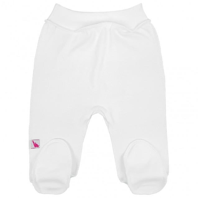 Однотонные белые ползунки для новорожденных Milk