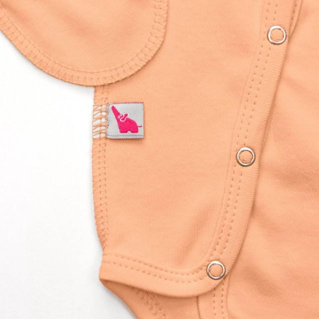 Боди с диагональной застежкой по всей длине Peach