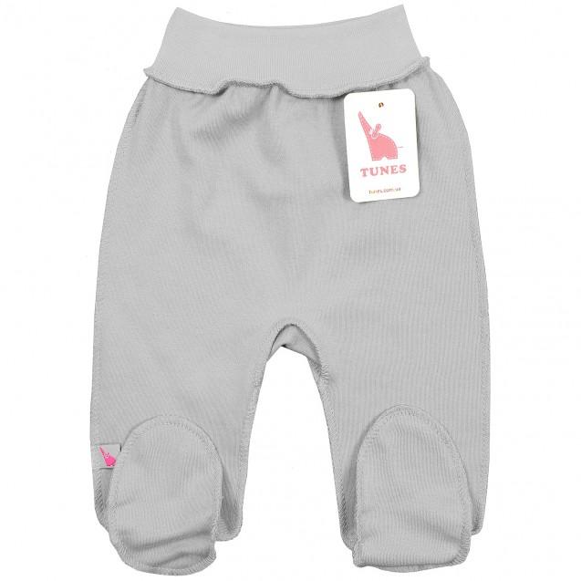 Однотонні сірі повзунки для новонародженого Gray