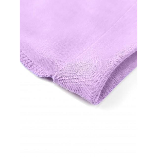 Шапочка с наружным швом для новорожденной Purple