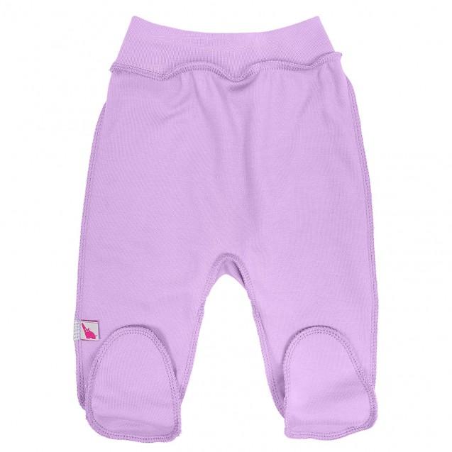 Однотонні бузкові повзунки для новонародженої Purple