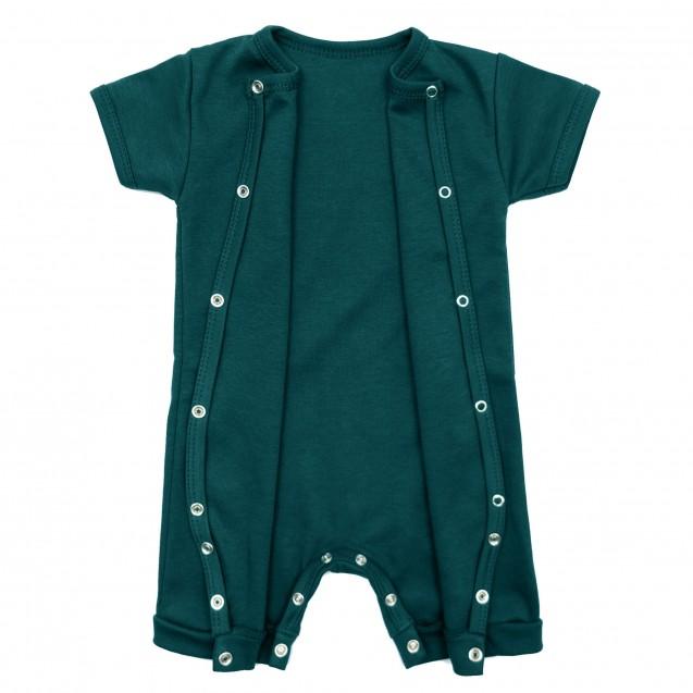 Ромпер однотонный на лето для малышей Emerald