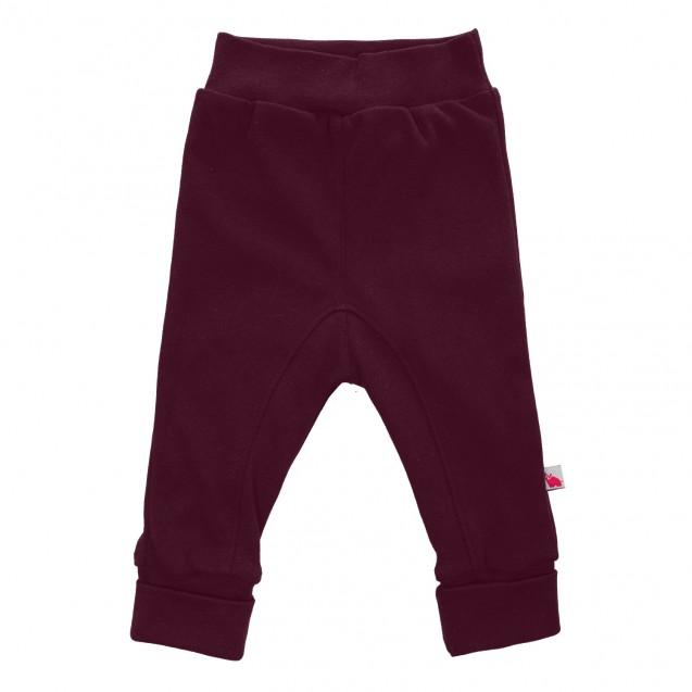 Детские штаны с высокими манжетами Wine