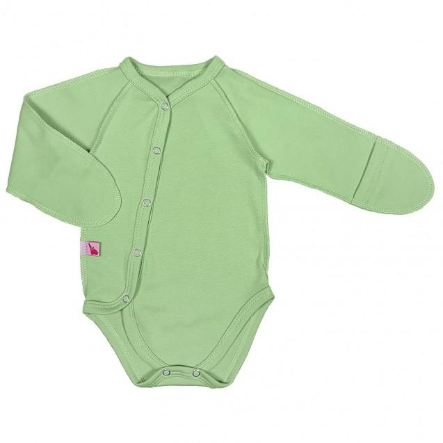 Боди для новорожденных с диагональной застежкой Olive
