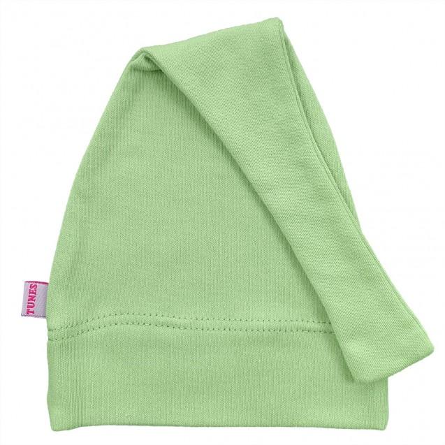 Однотонная шапочка с узелком для новорожденных Olive