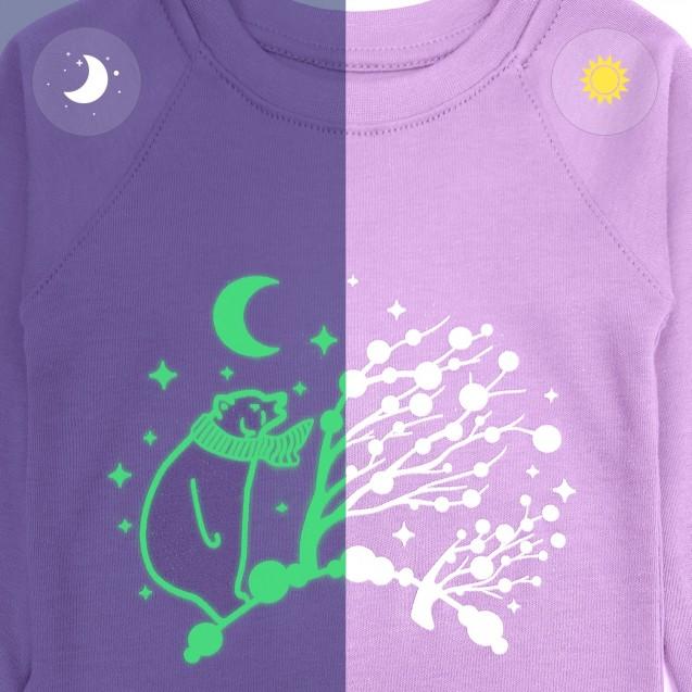 Пижама для девочки со светящимся принтом Purple