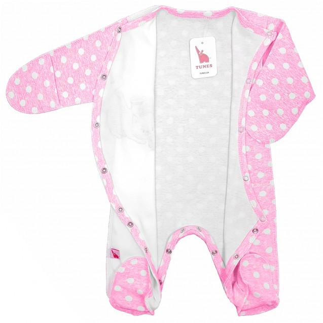 Человечек для новорожденной девочки Pink с авторским принтом