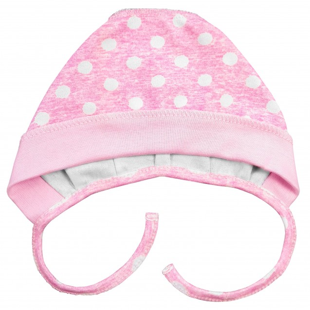 Шапочка с завязками с наружными швами Pink
