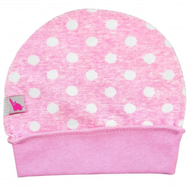 Шапочка на манжете для новорожденных Pink
