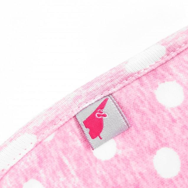 Европеленка кокон на молнии для девочки Pink