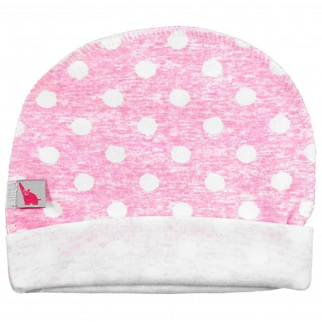 Базовая шапочка в роддом с наружным швом Pink