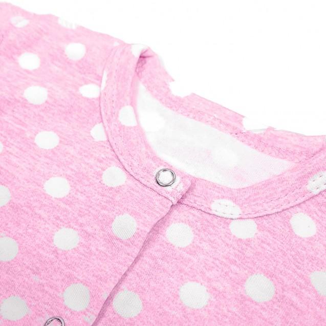 Боди для новорожденной с царапками Pink