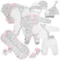 Набор одежды в роддом для девочки Cat and Stars 12 в 1