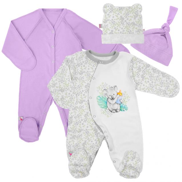 Набор одежды для новорожденной девочки в роддом Purple and Blossom 13 в 1