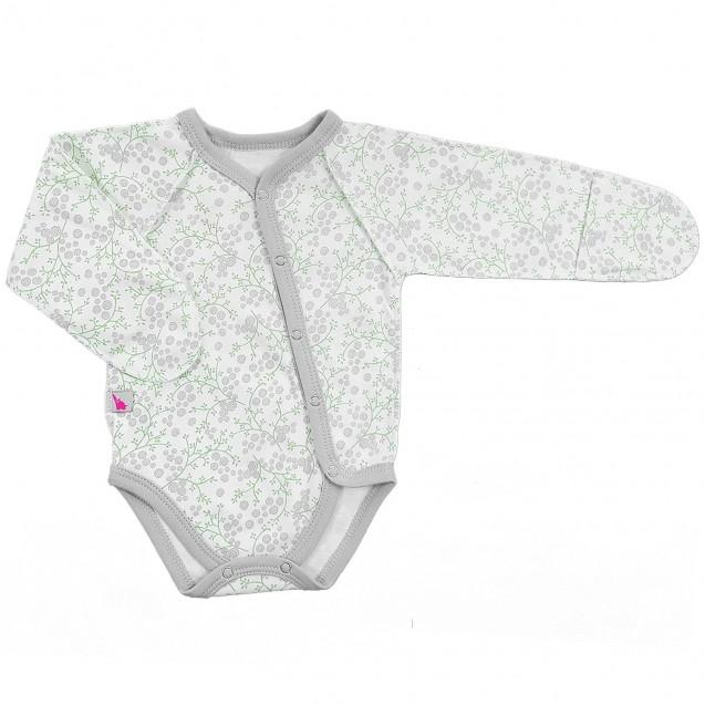 Боди для новорожденной с диагональной застежкой Blossom