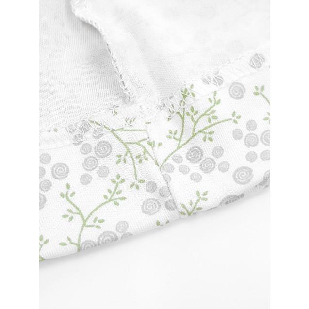 Шапочка з вузликом Blossom ботанічний принт