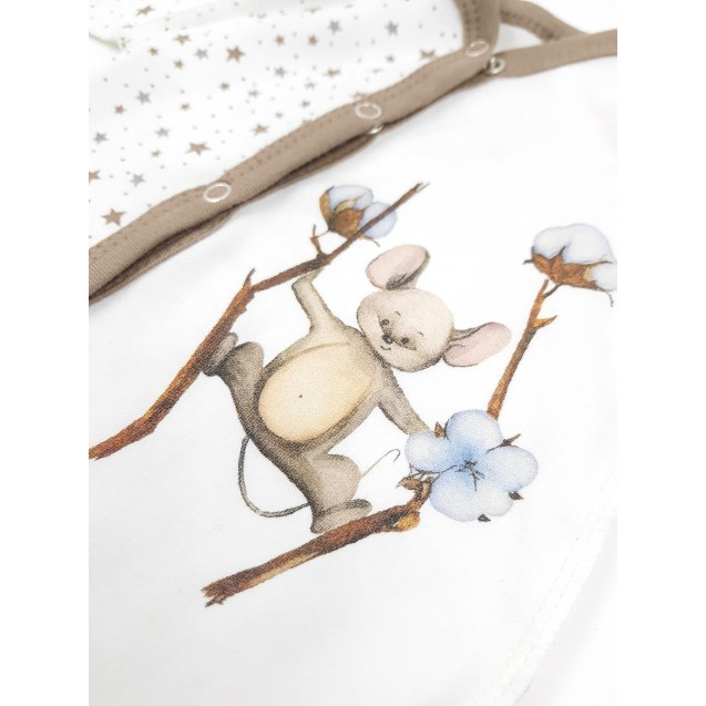 Бодик с авторским рисунком мышонок Cotton